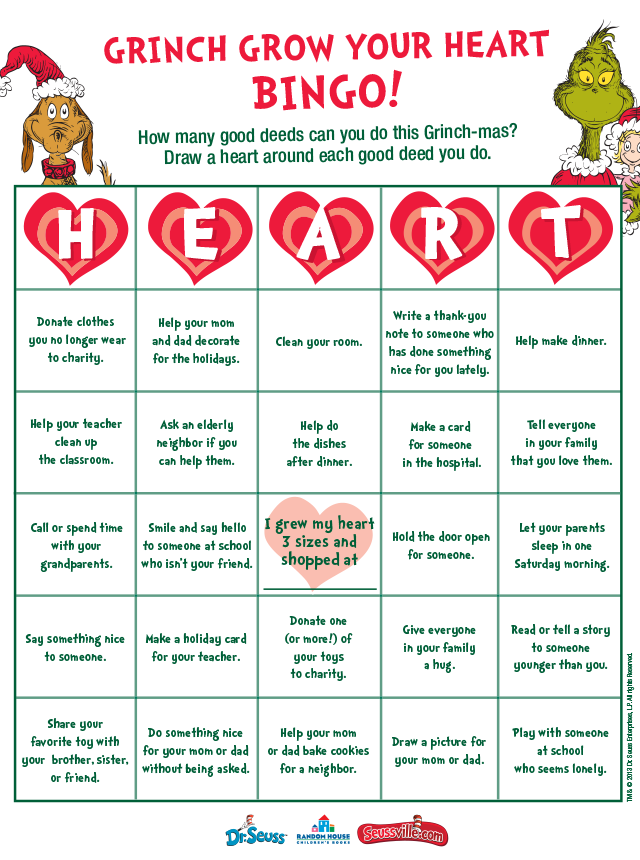Grow Your Heart Bingo